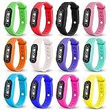 Altsommer Digitale LCD Sportuhr mit Schrittzähler;Distanz- und Kalorienberechnung, Uhr mit Wasserdicht Silikonarmband Uhr,Kinder Frauen Herren Watch für Kinder Guten Geschenken (Rosa)