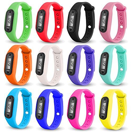 Altsommer Digitale LCD Sportuhr mit Schrittzähler;Distanz- und Kalorienberechnung, Uhr mit Wasserdicht Silikonarmband Uhr,Kinder Frauen Herren Watch für Kinder Guten Geschenken (Schwarz)