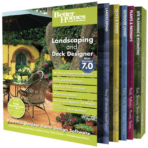 Better Homes and Gardens Landscaping & Deck Designer 7 (PC) - Gardens-software And Homes Better