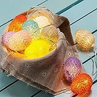 Kunst Schönheit Ostern LED String Lights Warm String Lichter Ornamente Batterie betrieben für Frühling Party Themen Yard & Garten Kinder Schlafzimmer Wohnzimmer Dorm (Eier)