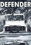 Defender von Land Rover durch wasser auto schild aus blech, metal sign, tin
