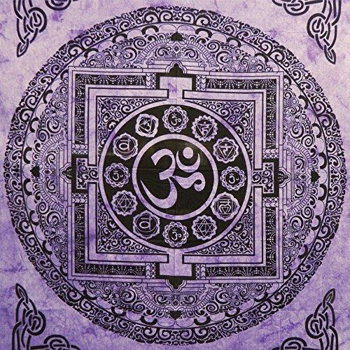 Tagesdecke Om Mandala violett Baumwolle Wandbehang Dekoration (Om Tagesdecke)