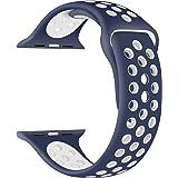EWENYS - Correa para Apple Watch, compatible con Apple Watch SE, IWatch Serie 6, 5, 4, 3, 2, 1, 42 mm, 44 mm, correa de silic