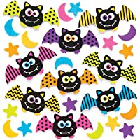 Baker Ross Pegatinas de Espuma de murciélagos (Pack de 120) para Manualidades y Decoraciones Infantiles de Halloween