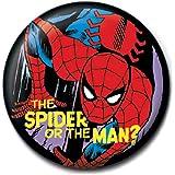 Distintivo del Pulsante Genuino Marvel Comics Spider-Man The Spider Or The Man