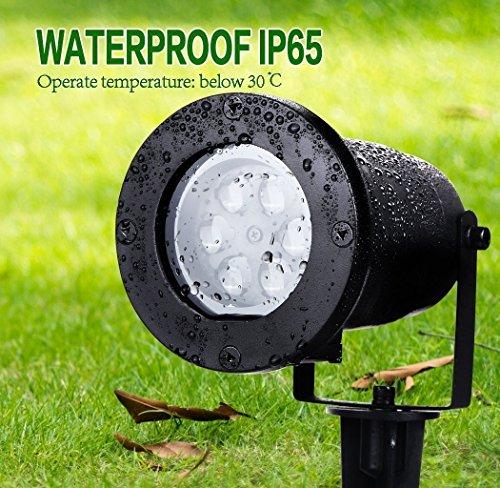 Unimall LED Projektor Lampe Halloween Beleuchtung Dekoration Lichteffekt Innen & Außen Garten mit vier bewendunge Muster - 4