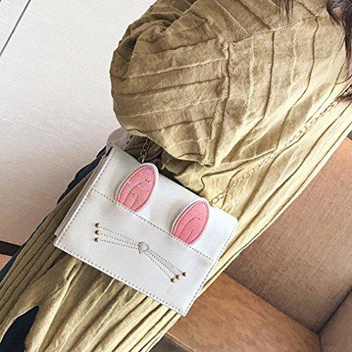 Signore borsa borsa, donna di moda borsa pu pelle gatto orecchie borsa piccola Tote borsa ladies bag by Kangrunmy Beige