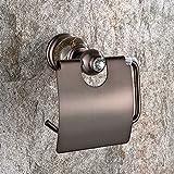 Unbekannt Europäische Kupfer Tissue Box Toilettenschale Badezimmer Retro kreative Toilettenpapierhalter Toilettenpapierhalter antik schwarz