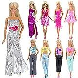 Miunana Fashion 10 Modische Partymode Urlaubstag Kleidung Kleider Outfit für Barbie Puppen Doll