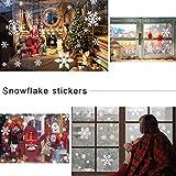 135 Fensterbilder für Weihnachten ,Schneeflocken mit Fensterdeko -Statisch Haftende PVC Aufklebe Test