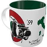 Nostalgic-Art Taza de café retro, Vespa – The Italian Classic – Idea de regalo para los aficionados a las scooters, Diseño vi