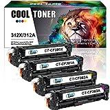 Cool Toner Compatibile per CF380X CF381A CF382A CF383A per Toner HP 312 312A 312X Stampante HP Color Laserjet Pro MFP M476 476 M476DW 476DW M476DN M476NW Multifunzione ( Nero-4400 Pagine, Ciano Giallo Magenta-2700 Pagine, Confezione da 4 Pezzi )