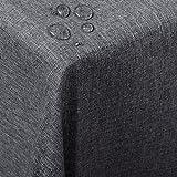 WOLTU TD3042gr Tischdecke Tischtuch Leinendecke Leinen Optik Lotuseffekt Fleckschutz Pflegeleicht abwaschbar schmutzabweisend Farbe & Größe wählbar Eckig 135x200 cm Grau