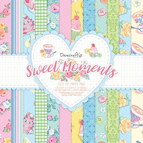 Dovecraft Sweet Moments FSC Lot de 12 x 12, Papier, Multicolore, 31 x 31 x 2 cm