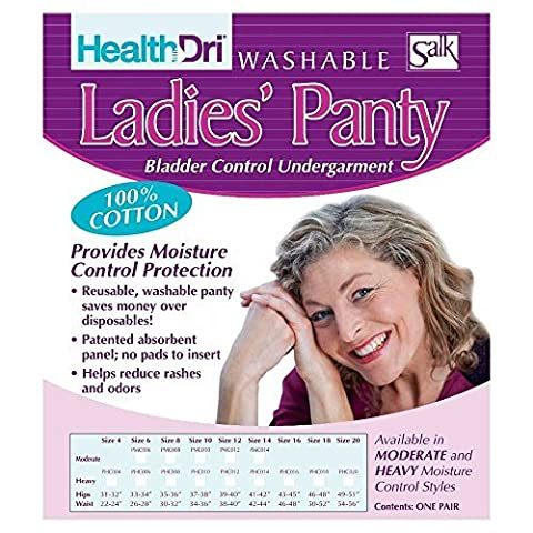 Salk HealthDri Washable Cotton Ladies Panty, Heavy, Size 20 by Health Dri