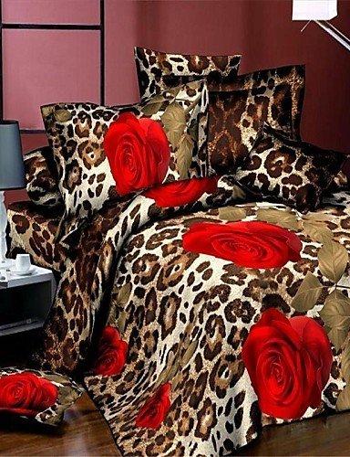 Tröster Bettwäsche-bettwäsche-satz (LIANGTT Vier Sätze Bettwäsche, Bettbezug-Set, 3D-Druck Bettwäsche Tröster gesetzt Queen-Size Bettdecken Bettbezug Bettdecke Bettwäsche-Blattbettdecke)