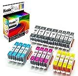 Koala Druckerpatronen kompatibel für Canon PGI-520 CLI-521 für Canon Pixma IP3600 IP4600 IP4600X IP4700 MP540 MP550 MP560 MP620 MP630 MP640 MP640R MP980 MP990 MX860 MX870 4*BK 4*PBK 4*C 4*M 4*Y