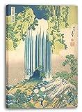 Printed Paintings Stampa su Tela (40x60cm): Katsushika Hokusai - Yōrō Waterfall nella Provincia d