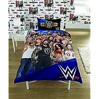 WWE 2K17 Face Vs Heel Single/Double Duvet Cover Bed Set - Reversible Panel Designs (Single Duvet Cover)
