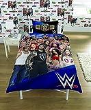 Dreamtex Juego de Cama con Funda de edredón de la WWE 2K17, 'Face Vs Heel», tamaño Individual y matrimonial (diseño Reversible para el tamaño Individual).
