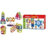FunBlast 52 PCS Mag Magical Magnetic Building Blocks 3D Magic Play Stacking Set for Brain Development Educational…