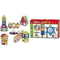 FunBlast 52 PCS Mag Magical Magnetic Building Blocks 3D Magic Play Stacking Set for Brain Development Educational…