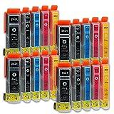 20 Druckerpatronen kompatibel zu Epson 26-XL T2636 passend für Epson Expression Premium XP-510 XP-520 XP-600 XP-605 XP-610 XP-615 XP-620 XP-625 XP-700 XP-710 XP-720 XP-800 XP-810 XP-820