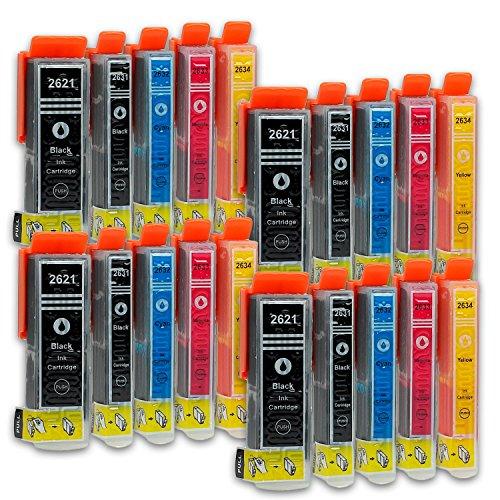 ompatibel zu Epson T2621, T2631, T2632, T2633, T2634 (4x Schwarz, 4x Photoschwarz, 4x Cyan, 4x Magenta, 4x Gelb) passend für Epson Expression Premium XP-615 XP-700 XP-610 XP-810 XP-800 XP-510 XP-620 XP-720 XP-820 XP-605 XP-520 XP-620 XP-625 XP-610 XP-600 XP-710 XP-600 (Tinte Epson Xp810)