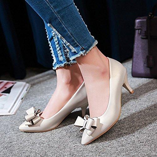 Misssasa Femme Chaussures À Talon Kitty Pompes Pied Elegant Beige