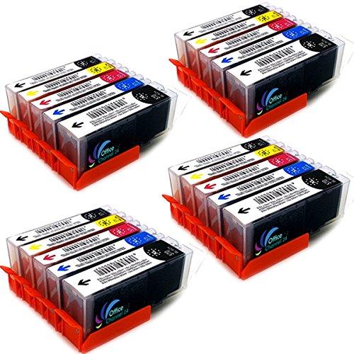 20 Drucker patronen kompatibel zu Canon PGI-570 CLI-571 für Canon PIXMA MG5750 MG5751 MG5752 MG5753 MG6850 MG7751 TS5050 TS5051 TS6050 TS6051 TS8050 (4Sets BK/PBK/C/M/Y)