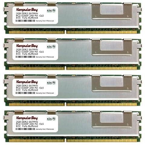 Komputerbay 8Go (4x 2 Go) DDR2 667 MHz ECC DIMM ENREGISTRÉ Mémoire Module pour Compaq HP ProLiant ML350