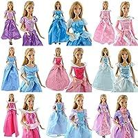 fat-catz-copy-catz® Party Dress Wedding Clothes Gown For Disney Princess Barbie Dolls Handmade (Not Mattel)