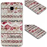 Qiaogle Téléphone Coque - Soft TPU Silicone Housse Coque Etui Case Cover pour Samsung Galaxy A3 (2016) / A3 (2016) Duos / A3100 (4.7 Pouce) - XX10 / Pink Aztec Tribe Stripes