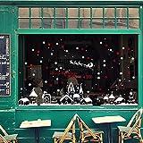 FAMILIZO Navidad Tienda De Ventana Pegatinas De Pared DecoracióN Decoración De Navidad Copos De Nieve Ciudad