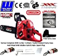 "New 2017 Xxx Powertools 62cc Professional Petrol Chainsaw 20"" Oregon Bar + 2 Oregon Chains / Walbro Carb / Ngk Spark Plug / Carry Case / Scabbard / Tool Kit All Included"