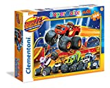 Clementoni 23984 - Puzzle Maxi Blaze And The Monster Machines, 104 Pezzi
