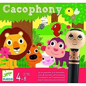 DJECO- Juegos de acción y reflejosJuegos educativosDJECOJuego Cacophony, Multicolor (15)