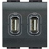 BTicino Living International L4285C2 Presa Caricatore USB, 2 Posti