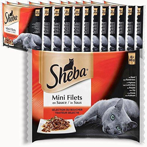 Sheba Sachets Fraîcheur Chat Mini Filets en Sauce Multi Variétés 13 Pack DE 85 g