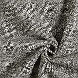 Fabulous Fabrics Drap de Laine chiné - Gris - Vendu au mètre à 0,5m - pour Coudre Manteaux, Vestes et Jupes