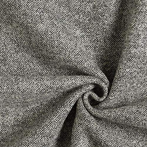 Fabulous Fabrics Wollstoff Melange - grau - Meterware ab 0,5m - zum Nähen von Mäntel, Jacken und Röcke - Grau Fischgrat-jacke