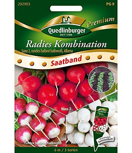 "Saatband Radies Kombination""Saxa 2, rundes halbrot halbweiß, Albena"",1 Portion"