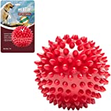 Meat Up Non-Toxic Rubber Stud Spike Hard Ball Chew Toy, Puppy/Dog Teething Toy - 3 inches, 1 Piece
