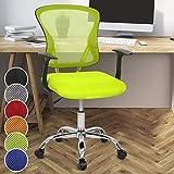 Miadomodo Sedia girevole da ufficio scrivania con sedile imbottito regolabile e schienale inclinabile e regolabile colore verde