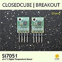 Closedcube Si7051± 0.1°C Digital Capteur de température I2C Breakout Board (2pcs) [à angle droit]