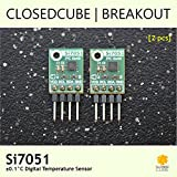 Closedcube I2 C per sensore temperatura digitale SI7051 ± 0.1 °C (2 pz) [right-angle]