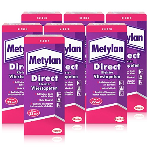 Henkel Metylan Direct Tapetenkleister für Vlies-Tapeten 200g ( 7er Pack )