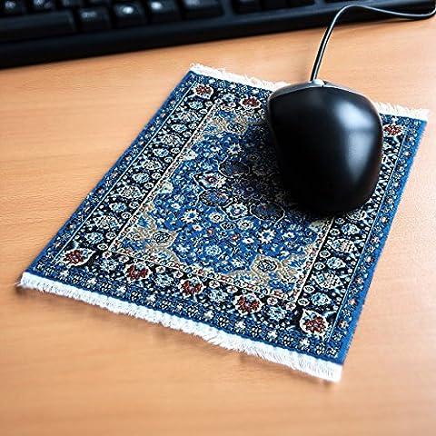 Orient&Ornament Mousepad im Orientteppich Design - Widerstandsfähiger, origineller und authentischer Miniaturteppich als Computer Zubehör für den Schreibtisch aus Textilgewebe in