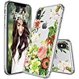 IPhone X Cases, Egotude Floral Design Hard Back Transparent Cover Case For Apple IPhone X (Tiara)