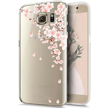 f501d44c14681b Kompatibel mit Galaxy S7 Hülle,Galaxy S7 Schutzhülle,Kirschblüte Blumen  Cherry Blossom Weich TPU Silikon Hülle Handyhülle Tasche Durchsichtig Handy  Hülle ...